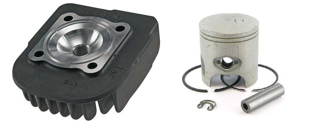 Culasse haute compression et piston bi-segment