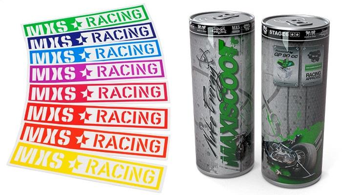 Stickers MXS Racing - Boisson énergisante Nuke Energy