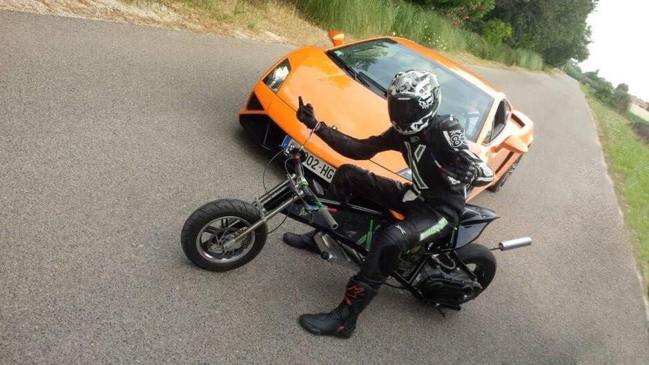 dragster 90 cc vs lamborghini gallardo 560 cv