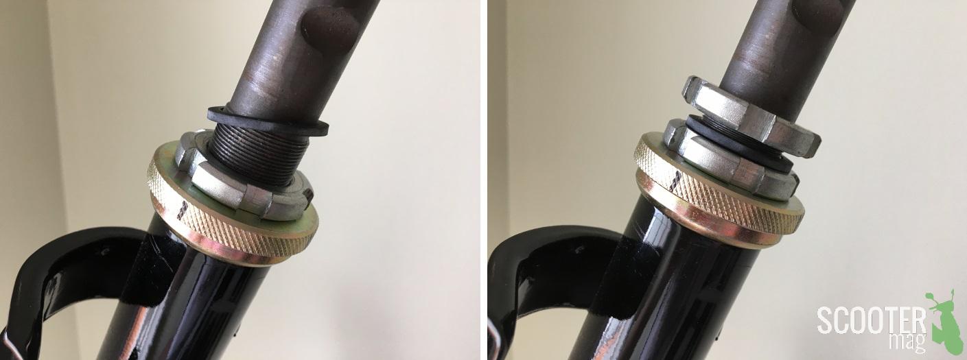 Mise en place du joint - vissage du contre-écrou
