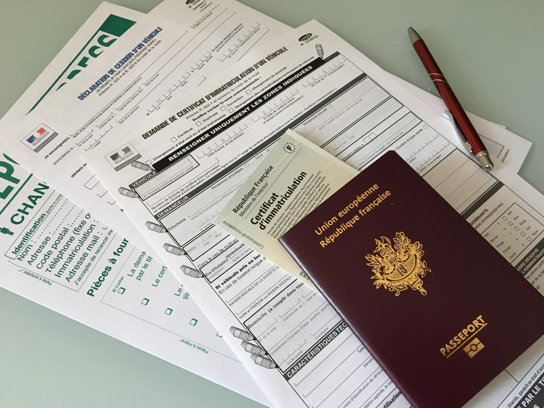Pièces à fournir lors de la demande d'un nouveau certificat d'immatriculation