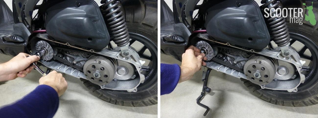 demontage-ecrou-variateur-scooter-50-booster