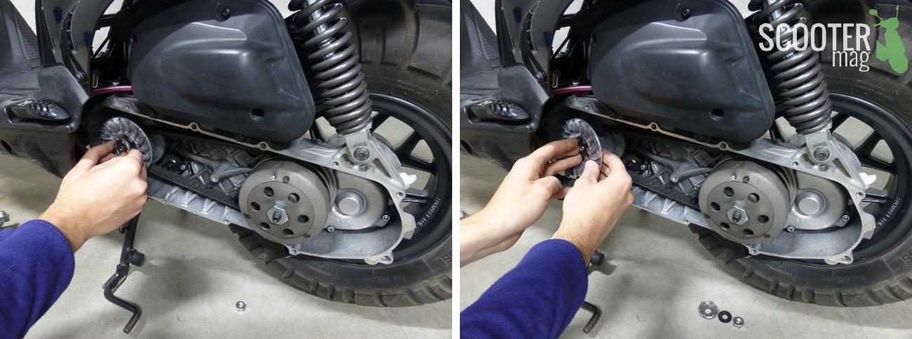 demontage-rochet-demarrage-etoile-poulie-ventilee-variateur-scooter-50-mbk