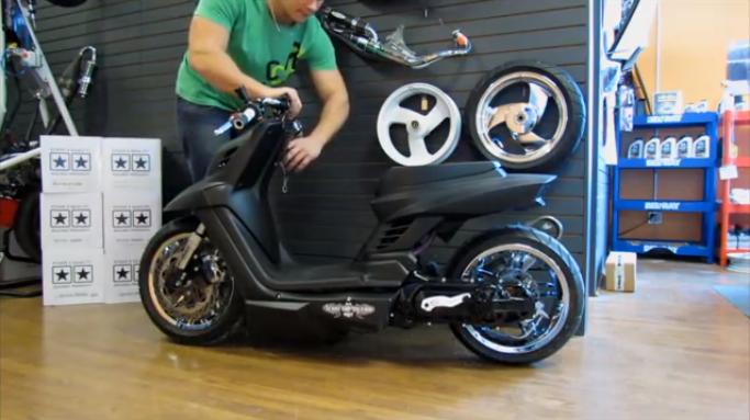 mbk booster suspensions pneumatiques actualit s scooter par scooter mag. Black Bedroom Furniture Sets. Home Design Ideas